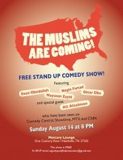 Stand up Comedy: The Muslims Are Coming to Middle Tennessee!