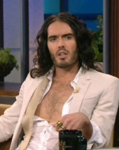 Stand-up comedy => Russell Brand on Tonight Show with Jay Leno