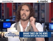 "Stand up Comedy: Russell Brand takes over MSNBC ""Morning Joe"" mocking the media"