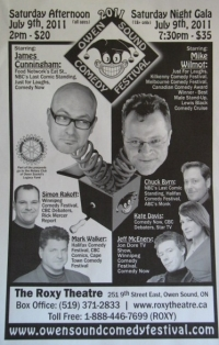Stand up Comedy: Owen Sound Comedy Festival is Back!