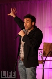 Stand-up comedy => ANT performing for students!