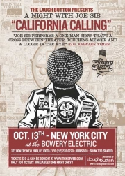 "Stand-up comedy => Joe Sib Performing His ""California Calling"" in New York"