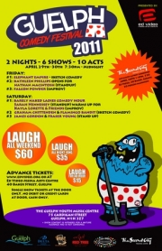 Stand-up comedy => The Guelph Comedy Festival coming up!