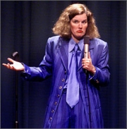 Stand-up comedy => Stand up comedian Paula Poundstone performs at the Egyptian
