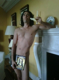 Stand up Comedy: Russell Brand naked to promote his autobiography